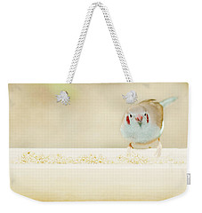 Curious Cordon Bleu Finch  Weekender Tote Bag