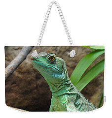 Weekender Tote Bag featuring the photograph Curious Gaze by Lingfai Leung