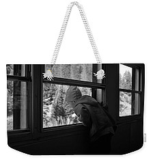 Weekender Tote Bag featuring the photograph Curious by Jeremy Rhoades