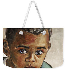 Curious Little Boy Weekender Tote Bag