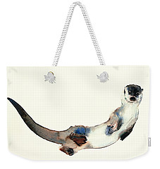 Curious Otter Weekender Tote Bag by Mark Adlington