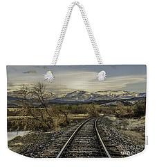 Curve In The Tracks Weekender Tote Bag