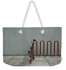 Curved Rack In Red - Urban Parking Stalls Weekender Tote Bag by Steven Milner