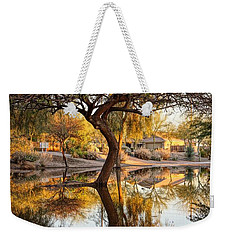 Curved Reflection Weekender Tote Bag by Kerri Mortenson