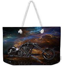 Custom Black Chopper Weekender Tote Bag