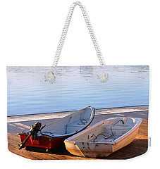 Weekender Tote Bag featuring the photograph Cute Couple by Mike Ste Marie