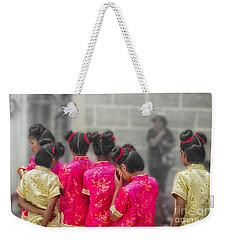 Cute Girls Weekender Tote Bag