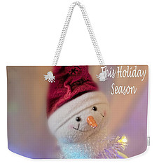 Cutest Snowman Christmas Card Weekender Tote Bag