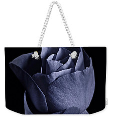 Cyan Rose Portrait Weekender Tote Bag