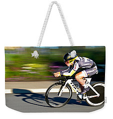 Weekender Tote Bag featuring the photograph Cycling Prologue by Kevin Desrosiers