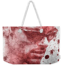 Cyclops X Men Paint Splatter Weekender Tote Bag by Dan Sproul