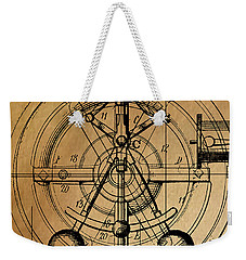 Weekender Tote Bag featuring the painting Cyclotron by James Christopher Hill