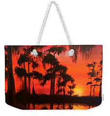 Cypress Swamp At Sunset Weekender Tote Bag