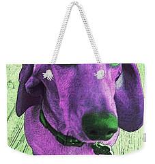 Dachshund - Purple People Greeter Weekender Tote Bag