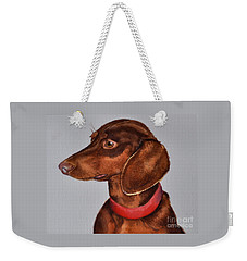 Dachshund Watercolor Painting Weekender Tote Bag