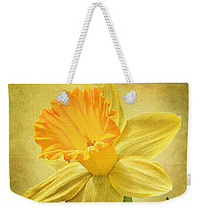 Daffodil Weekender Tote Bag by Ann Lauwers