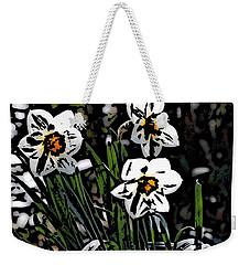 Weekender Tote Bag featuring the digital art Daffodil by David Lane