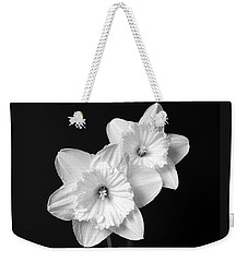Daffodil Flowers Black And White Weekender Tote Bag