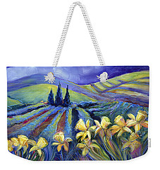 Daffodils And Stormclouds Weekender Tote Bag