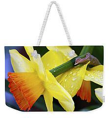 Daffodils With Rain Weekender Tote Bag by Joe Schofield