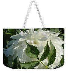 Weekender Tote Bag featuring the photograph Dahlia Delicate Dancer by Susan Garren