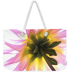 Weekender Tote Bag featuring the photograph Dahlia Flower by Joy Watson