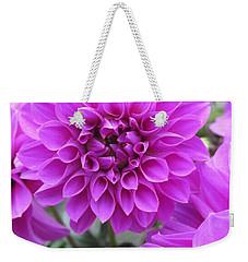 Dahlia In Pink Weekender Tote Bag