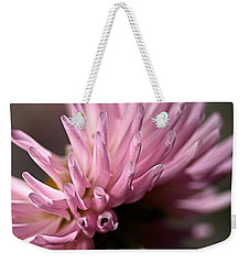 Weekender Tote Bag featuring the photograph Dahlia by Joy Watson