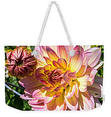 Weekender Tote Bag featuring the photograph Dahlia by Kate Brown