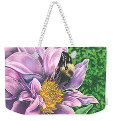 Dahlia Weekender Tote Bag by Troy Levesque
