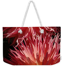 Weekender Tote Bag featuring the photograph Dahlia Vi by Christiane Hellner-OBrien