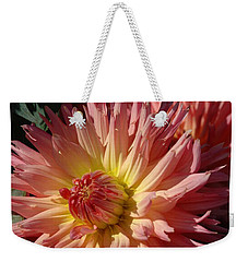 Weekender Tote Bag featuring the photograph Dahlia Viii by Christiane Hellner-OBrien