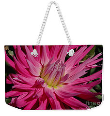 Weekender Tote Bag featuring the photograph Dahlia X by Christiane Hellner-OBrien