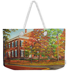 Dahlonega's Gold Museum In Autumn Weekender Tote Bag