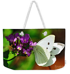Dainty Butterfly Weekender Tote Bag by Kaye Menner