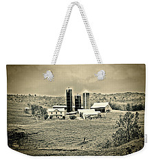 Weekender Tote Bag featuring the photograph Dairy Farm by Denise Romano