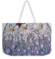 Daisies And A Butterfly Weekender Tote Bag by Megan Walsh