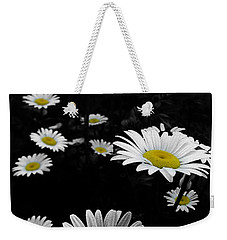 Daisies Weekender Tote Bag by GJ Blackman