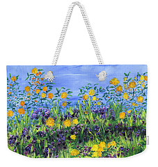 Daisy Days Weekender Tote Bag by Regina Valluzzi