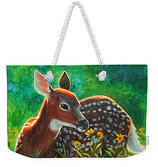 Daisy Deer Weekender Tote Bag by Crista Forest