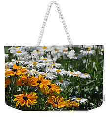 Weekender Tote Bag featuring the photograph Daisy Fields by Bianca Nadeau