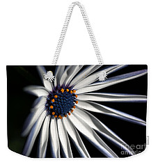 Weekender Tote Bag featuring the photograph Daisy Heart by Joy Watson