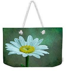 Daisy In The Rain Weekender Tote Bag