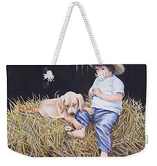 Daisy Weekender Tote Bag by Nancy Cupp
