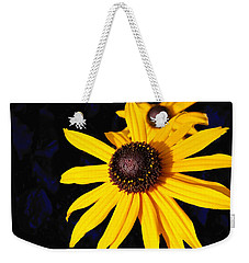 Daisy On Dark Blue Weekender Tote Bag