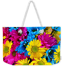 Weekender Tote Bag featuring the photograph Daisys Flowers Bloom Colorful Petals Nature by Paul Fearn