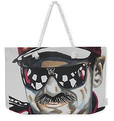 Dale Earnhardt Sr Weekender Tote Bag by Chrisann Ellis