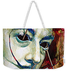 Weekender Tote Bag featuring the painting Dali 2 by Laur Iduc