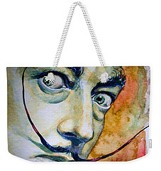 Weekender Tote Bag featuring the painting Dali by Laur Iduc