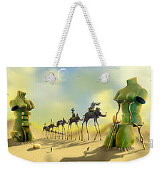 Dali On The Move  Weekender Tote Bag by Mike McGlothlen